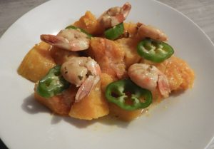 Curry crevette butternut piment