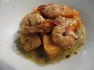 Curry crevettes butternut en sauce