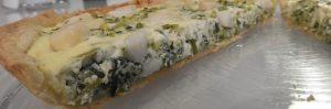 Tarte vert de poireaux saint-jacques