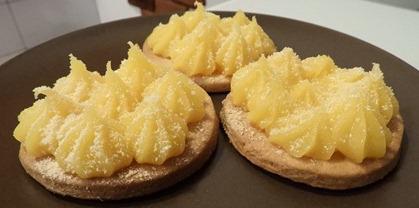 3 tartelettes lemon curd