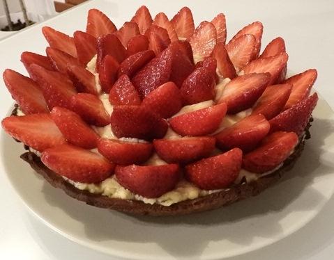 Tarte fraises-chocolat
